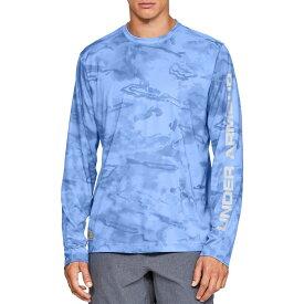アンダーアーマー Under Armour メンズ 釣り・フィッシング トップス【shore break camo fishing long sleeve shirt】Carolina Blue