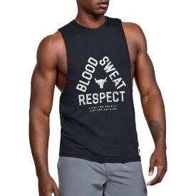 アンダーアーマー Under Armour メンズ タンクトップ トップス【project rock blood sweat respect graphic tank top】Black