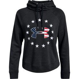 アンダーアーマー Under Armour レディース パーカー トップス【freedom logo favorite fleece hoodie】Black/White