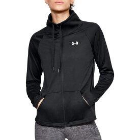 アンダーアーマー Under Armour レディース スウェット・トレーナー トップス【tech full zip sweatshirt】Black/Black