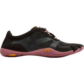 ビブラム Vibram レディース ランニング・ウォーキング シューズ・靴【fivefingers kso evo running shoes】Black/Rose