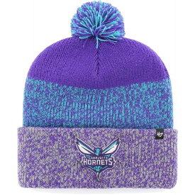 フォーティセブン 47 メンズ 帽子 ニット【Charlotte Hornets Static Purple Knit Hat】