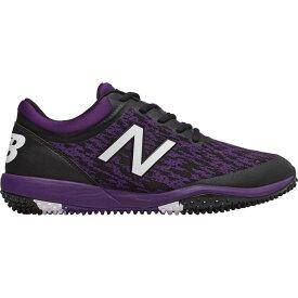 ニューバランス New Balance メンズ 野球 シューズ・靴【4040 v5 Turf Baseball Cleats】Black/Purple
