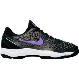 ナイキ Nike メンズ テニス シューズ・靴【Court Zoom Cage 3 Tennis Shoes】Black/Purple