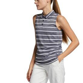 ナイキ Nike レディース ゴルフ トップス【Dri-FIT Striped Sleeveless Golf Polo】Black/White/Black