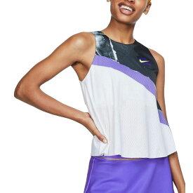 ナイキ Nike レディース テニス トップス【Court 2-in-1 Tennis Tank Top】White/Purple