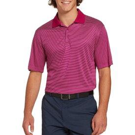 スラセンジャー Slazenger メンズ ゴルフ ポロシャツ トップス【Core Mini Stripe Golf Polo】Cranberry