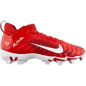 ナイキ Nike メンズ アメリカンフットボール スパイク シューズ・靴【Alpha Menace Shark 2 Mid Football Cleats】Red/White