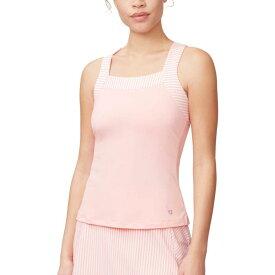 フィラ Fila レディース テニス タンクトップ トップス【Stripe Trim Tennis Tank Top】Light Pink