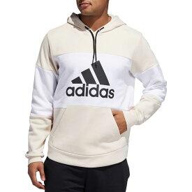 アディダス adidas メンズ パーカー トップス【Post Game Fleece Badge Of Sport Graphic Hoodie】Linen/White