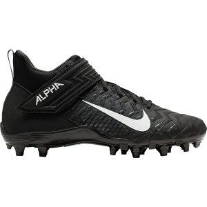 ナイキ Nike メンズ アメリカンフットボール スパイク シューズ・靴【Alpha Menace Varsity 2 Mid Football Cleats】Black/White