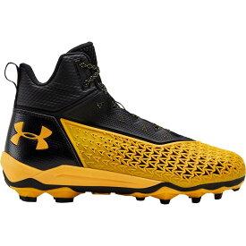 アンダーアーマー Under Armour メンズ アメリカンフットボール スパイク シューズ・靴【Hammer Mid MC Football Cleats】Black/Yellow