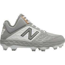 ニューバランス New Balance メンズ 野球 スパイク シューズ・靴【Fresh Foam 3000 V4 Mid TPU Baseball Cleats】Grey/White