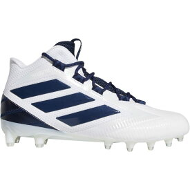 アディダス adidas メンズ アメリカンフットボール スパイク シューズ・靴【Freak Carbon Mid Football Cleats】White/Navy