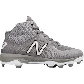 ニューバランス New Balance メンズ 野球 スパイク シューズ・靴【4040 V4 Mid TPU Baseball Cleats】Grey/Grey