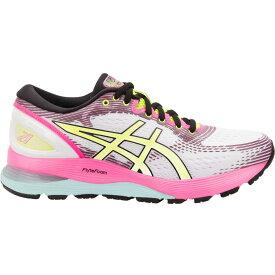 アシックス ASICS レディース ランニング・ウォーキング シューズ・靴【Gel-Nimbus 21 Running Shoes】White/Pink