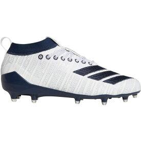 アディダス adidas メンズ アメリカンフットボール スパイク シューズ・靴【adizero 8.0 Three Stripe Life Football Cleats】White/Navy