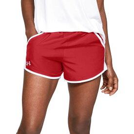 アンダーアーマー Under Armour レディース ランニング・ウォーキング ショートパンツ ボトムス・パンツ【Team Fly-By Running Shorts】Red/White
