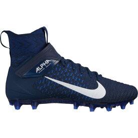 ナイキ Nike メンズ アメリカンフットボール スパイク シューズ・靴【Alpha Menace Elite 2 Football Cleats】Navy/White