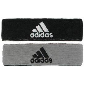 """アディダス adidas ユニセックス ヘアアクセサリー ヘッドバンド【Interval Reversible Headband - 2""""】Black/Gray"""