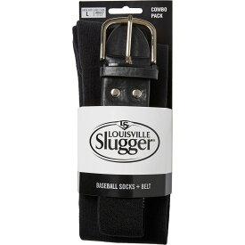 ルイスビルスラッガー Louisville Slugger メンズ 野球 ソックス ベルト【Baseball Socks & Belt Combo Pack】Black
