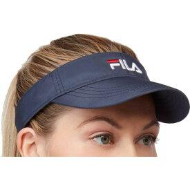 フィラ Fila ユニセックス サンバイザー 帽子【Performance Solid Tennis Visor】Navy