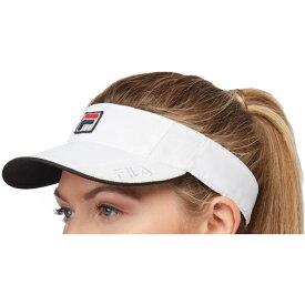 フィラ Fila レディース サンバイザー 帽子【Performance Tennis Visor】White