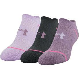 アンダーアーマー Under Armour レディース ソックス インナー・下着【Phenom No Show Socks -3 Pack】Purple