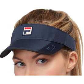 フィラ Fila レディース サンバイザー 帽子【Performance Tennis Visor】Navy