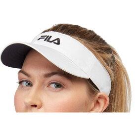 フィラ Fila ユニセックス サンバイザー 帽子【Performance Solid Tennis Visor】White