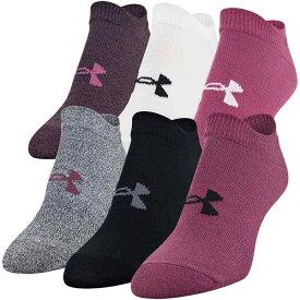アンダーアーマー Under Armour レディース ソックス 6点セット インナー・下着【Essential 2.0 No Show Socks - 6 Pack】Level Purple