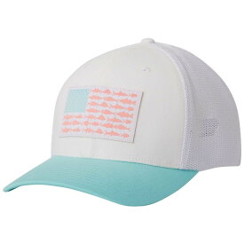 コロンビア Columbia メンズ 帽子 【Mesh Fish Flag Cap】White/Gulf Stream