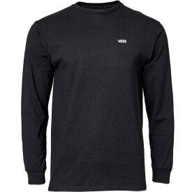 ヴァンズ Vans メンズ トップス 【Left Chest Logo Graphic Long Sleeve Shirt】Black/White