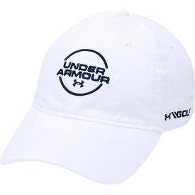 アンダーアーマー Under Armour メンズ 帽子 【Jordan Spieth Washed Cotton Golf Hat】White/Academy
