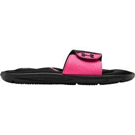 アンダーアーマー Under Armour レディース サンダル・ミュール シューズ・靴【Ignite VI Slides】Black/Pink