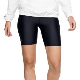 アンダーアーマー Under Armour レディース 自転車 ショートパンツ ボトムス・パンツ【HeatGear Armour Bike Shorts】Black/Metallic Silver
