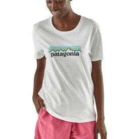 パタゴニア Patagonia レディース Tシャツ トップス【Pastel P-6 Logo Organic Crew T-Shirt】White