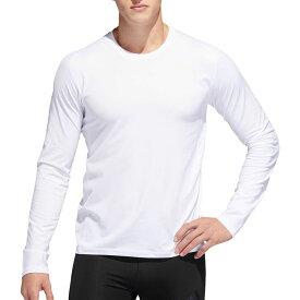 アディダス adidas メンズ トップス 【Alphaskin 3-Stripes Long Sleeve Shirt】White