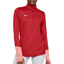 アンダーアーマー Under Armour レディース トップス ハーフジップ【Locker 1/2 Zip Long Sleeve Shirt】Red
