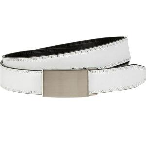 ナイキ Nike メンズ ゴルフ ベルト【Plaque Edge Acu-Fit Golf Belt】White
