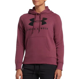 アンダーアーマー Under Armour レディース パーカー トップス【Rival Fleece Graphic Hoodie】Level Purple/Black