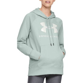 アンダーアーマー Under Armour レディース パーカー トップス【Rival Fleece Graphic Hoodie】Atlas Green/Onyx White