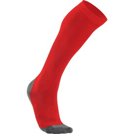 ツータイムズユー 2XU メンズ ランニング・ウォーキング ソックス【Compression Performance Running Knee High Socks】Red/Grey