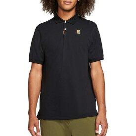 ナイキ Nike メンズ テニス 半袖 トップス【Adult Court Short Sleeve Tennis Polo】Black