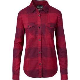 ダカイン DAKINE レディース ブラウス・シャツ フランネルシャツ トップス【Noella Tech Flannel Button Down Shirt】Deep Garnet