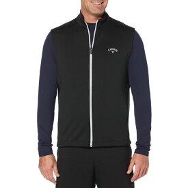 キャロウェイ Callaway メンズ ゴルフ ノースリーブ トップス【High Gauge Fleece Golf Vest】Caviar