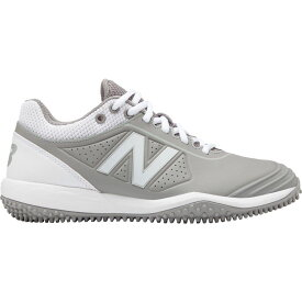 ニューバランス New Balance レディース 野球 シューズ・靴【FUSEV2 Softball Turf Shoes】Grey/White