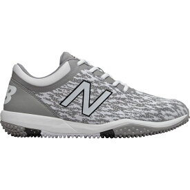 ニューバランス New Balance メンズ 野球 スパイク シューズ・靴【4040 v5 Turf Baseball Cleats】Grey/White