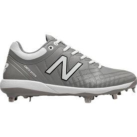 ニューバランス New Balance メンズ 野球 スパイク シューズ・靴【4040 v5 Metal Baseball Cleats】Grey/White