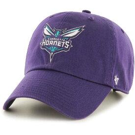 フォーティセブン 47 メンズ キャップ 帽子【' Charlotte Hornets Purple Clean Up Adjustable Hat】